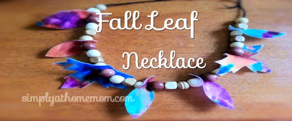 fall leaf necklace craft