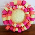 Fall Paper Ring Flower Craft