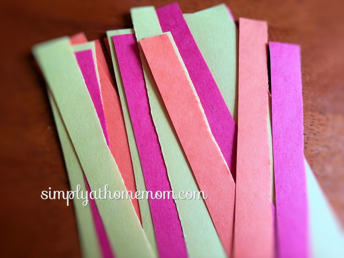long paper strips