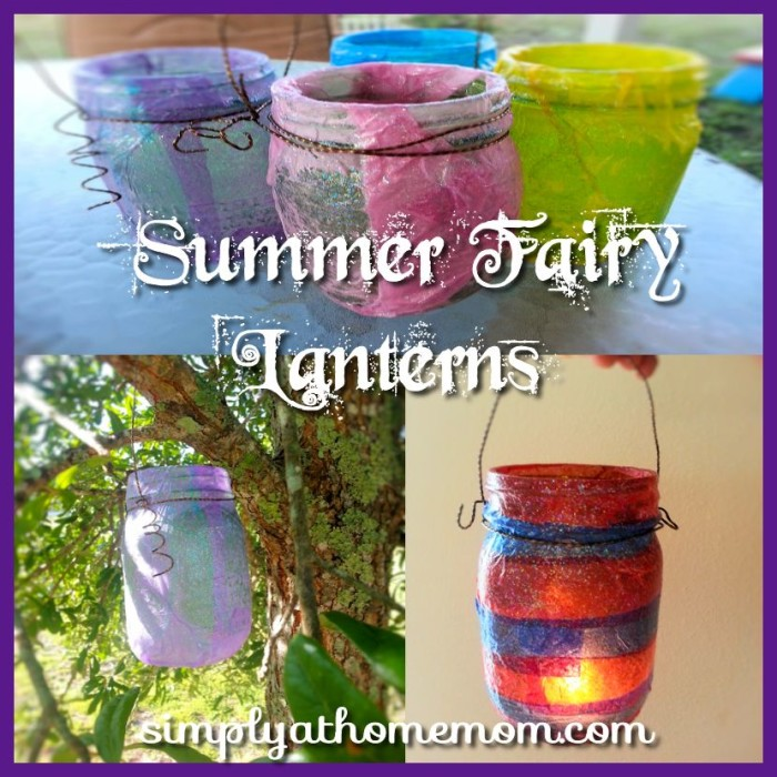summer fairy lantern craft