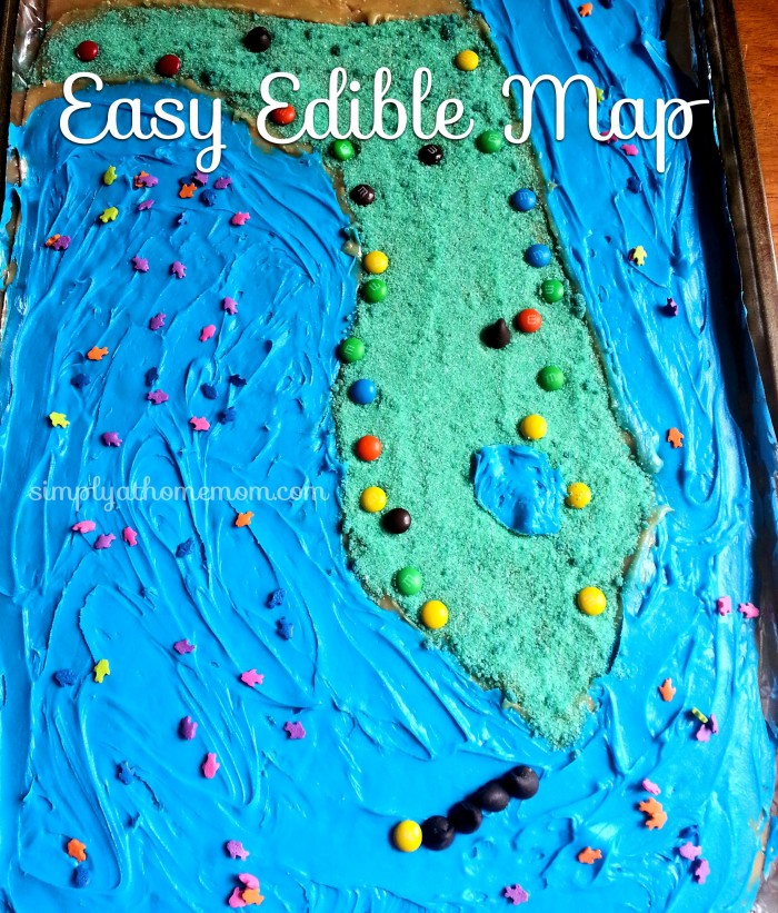 how to make an edible map