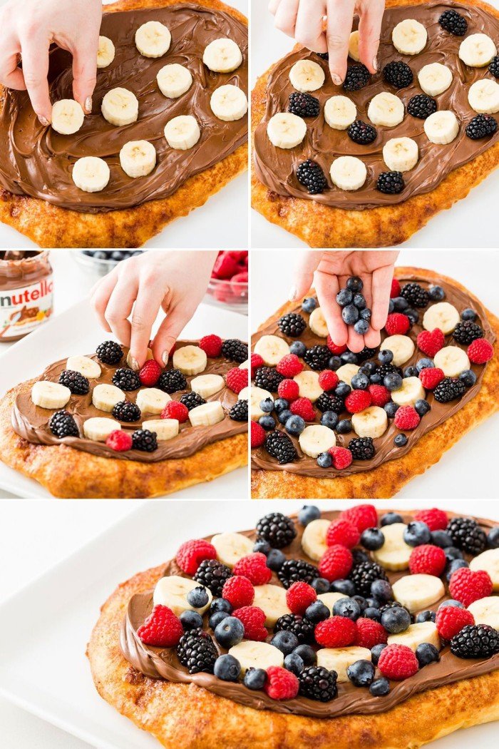 nutella breakfast pizza