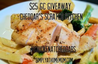 Cheddar's National Chicken Month and $25 GC Giveaway