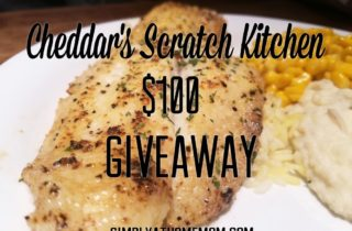 Cheddar's Scratch Kitchen $100 GC Giveaway! #InspireGoodness