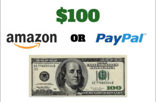 It's Giveaway Time! $100 Amazon or Paypal Giveaway